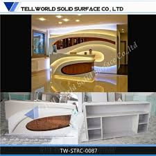 acrylic solid surface modern design used salon front desk reception counter