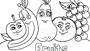 Fruits And Veggies Coloring Pages Vegetable Page Fruit Vegetables
