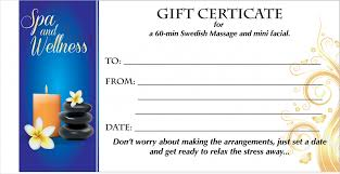 spa gift certificate template professional and high quality templates