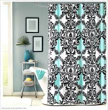 love the black white and teal shower curtain blue tiffany
