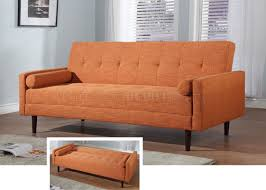 convertible beds furniture. Orange Fabric Contemporary Sofa Bed Convertible Beds Furniture