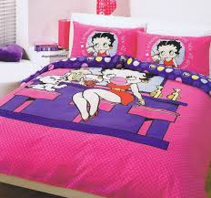 bedroom bedroom pretty pink betty boop bedding set with modern white