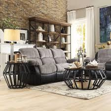 Bentwood Metal Frame Round Cage Slate 2-piece Occasional Table Set by  iNSPIRE Q Classic by iNSPIRE Q