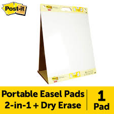 3m Flip Chart Paper Post It Super Sticky Tabletop Easel Pad 20 X 23 Inches 20
