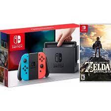 COMBO Máy chơi Game Nintendo Switch With Neon Blue Red Joy-Con + The Legend  of Zelda: Breath of the Wild - Hàng nhập khẩu - Nintendo