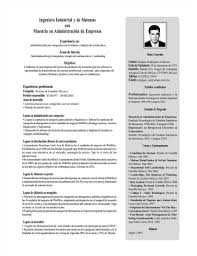 Curriculum Vitae Mexico Formato Formato Resume Project Manager