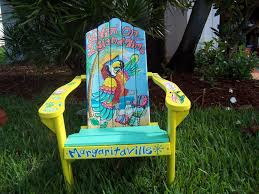 tropical painted furniture. furniture ideas tropical adirondack chair handcrafted hand painted