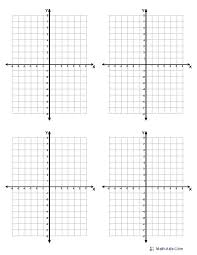 One Inch Graph Paper Graphing Template Math Graph Paper Printable Math Graph Paper Free