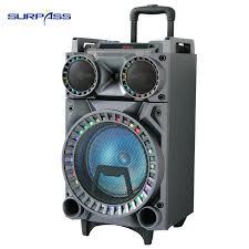 Wireless Karaoke 10 inch <b>Portable</b> Subwoofer Trolley Outdoor Party ...