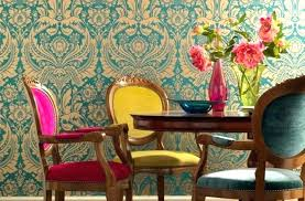 colored dining room chairs colorful damask dining room multi coloured dining table and chairs