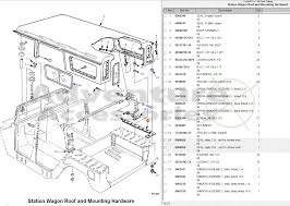 hummer h1 am general parts drawings 96 wagon roof gif