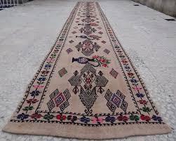 14 runner rug 14 foot vintage extra long narrow handmade unique tribal kilim rug hall runner