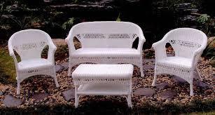11 White Resin Wicker Patio Furniture