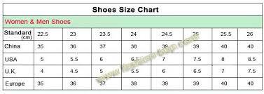 Shoe Size Conversion Chart Chinese To Us Us Shoes Size Chart To China Bedowntowndaytona Com