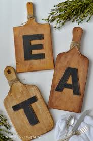 fast and simple diy for the kitchen walls cutting board word art from www  on eat kitchen wall art with how to make diy kitchen decor from vintage cutting boards anderson
