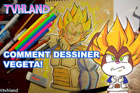 Comment Dessiner Vegeta De Dragonball Z Youtube
