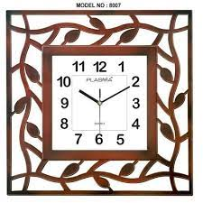 plasma quartz square shape wall clock