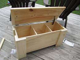 diy outdoor wood storage box with lid and leg as bench seat ideas