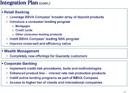 consumer lending s instill bbva p leading sba program improve cross sell and efficiency ratios
