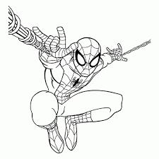 Kleurplaten Printen Spiderman