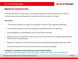Method Of Statement Sample Safety Statement Template Shopfitting And Joinery Ohs And Workplace 60