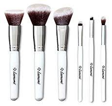 blush makeup brush set kabuki foundation powder eyeshadow eye brushes 6 piece essential kit