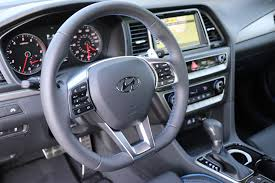 2018 hyundai sonata sport. modren hyundai 2018 hyundai sonata sport gray interior with d shape steering wheel and  blue accents in hyundai sonata sport
