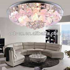 chandelier for low ceiling living room monumental flower small red light crystal interior design 11