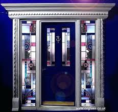 glass front doors uk art jewelled bevel glass door and side panels contemporary glass front doors