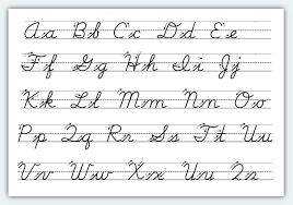 Handwriting Chart Print Cursive Handwriting Comes First On Pinterest Cursive