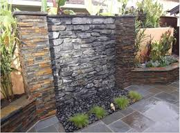 how to build a water fall wall outdoor