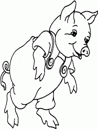 Small Picture Baby Pig Animal Coloring Page For Kids Baby Animal Coloring Pages