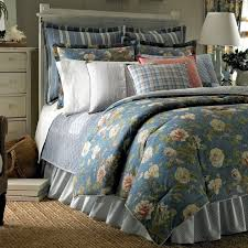 fl ralph lauren bedding in blue with area rug also wooden chest drawer for bedroom