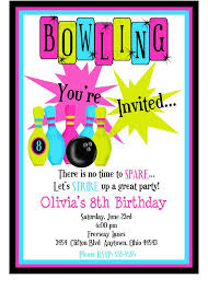 Bowling Party Invitations Bowling Invitations Kids Bowling Birthday Party Cosmic Bowling
