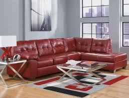 captivating ashley red leather sofa contemporary bonded sectional t 689x525