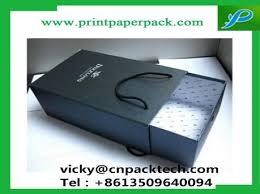 custom luxury full printed sliding cardboard drawer gift belt jewelry box