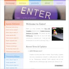 Free Website Templates Html Delectable Html Website Templates With Source Code Popteenus