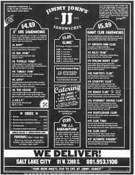 jimmy johns menu study guide.  Guide If This Menu Had Taco Tom Written On It Would Still Be Jimmy Johnu0027s To Johns Menu Study Guide W