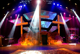 church lighting ideas. easter church stage ideas in production tech masking lighting