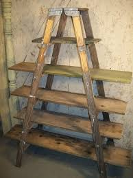 wood ladder shelf double 6 step ladder shelf frame we will paint or leave it natural