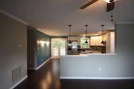 Of Painted Living Room Walls Half Wall Between Kitchen And Family Room Maybe One Day