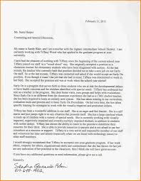 6 Letter Of Recommendation For Graduate School Examples Appeal Letter