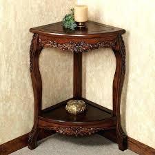 alluring small corner accent table decor ideas home tables shelves with small corner accent table
