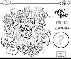 Fruit Tellen Kleurplaat Vector Premium Download