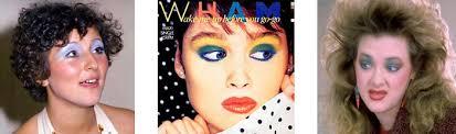 blue eyeshadow in the 80s