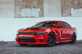 Racing Red Dodge Charger Scat Pack By Rohana Wheels Dodge Charger Hellcat Dodge Charger Dodge Charger Srt