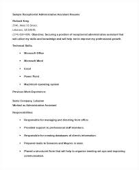 Administrative Assistant Resume Template Magnificent Examples Of Administrative Assistant Resume Administrative Assistant