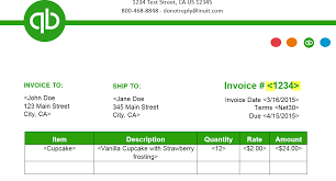 Professional Invoice Template Word Quickbooks Invoice Templates Shatterlion Info