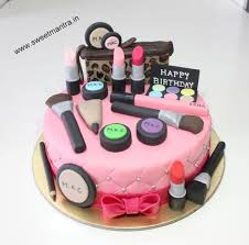 Makeup Overload Theme Eggless Small 3d Birthday Cake Cake By Sweet