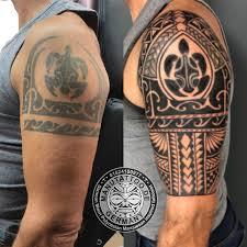 Freehand Polynesian Tattoo Cover Up Cover Ups Polynesian Samoan